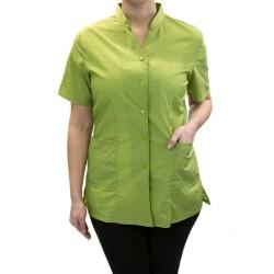 Anna Jacket with Custom Name Logo Embroidery Salon Stylist Hairdresser Smock Uniform Style# 9200 Lime Green
