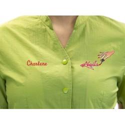 Anna Jacket with Custom Name Logo Embroidery Salon Stylist Hairdresser Smock Uniform