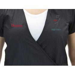 Dion Jacket (9201) with Custom Name Logo Embroidery Salon Stylist Hairdresser Smock Uniform