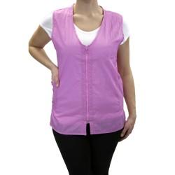 Zipper Vest (9161) - Pink