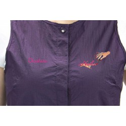Snap Vest with Custom Name Logo Embroidery Salon Stylist Hairdresser tunic Smock Uniform