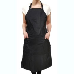 Ella Long Apron (9420) - Black