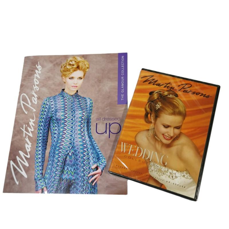 Martin Parson Hair Dress-up Book & Wedding DVD Set