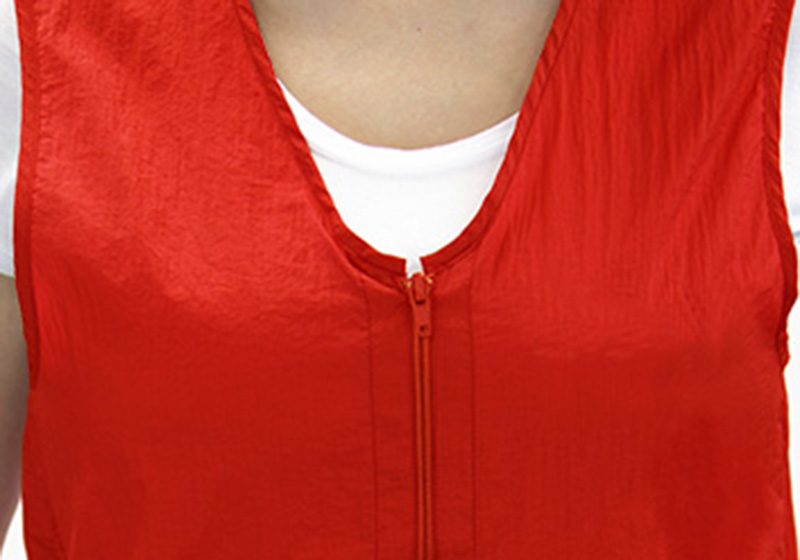 Red - Zipper Vest