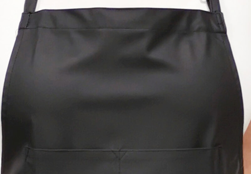 Short Vinyl Apron - Black